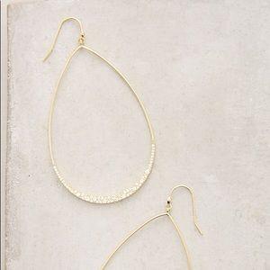 Anthropologie Teardrop Hoop Earrings